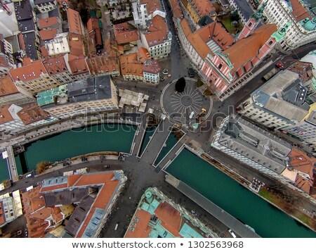 Triple bridge, Ljubljana, Slovenia, Europe. Stock photo © kasto