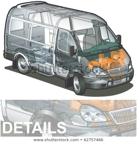Vector delivery / cargo van infographics cutaway Stock photo © mechanik
