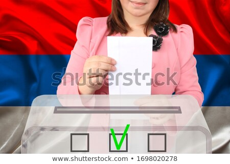 Ballot box Serbia Stock photo © Ustofre9