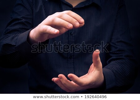 Stock photo: man hand showing size applauding