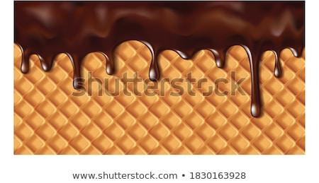 Cioccolato giallo dolce isolato bianco Foto d'archivio © boroda