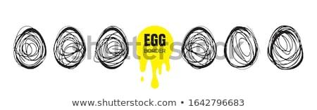 Eieren grens geïsoleerd witte Pasen voedsel Stockfoto © natika