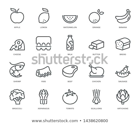 Cheese, eggs, butter and beef  Stock photo © russwitherington