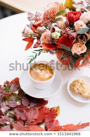 Stock fotó: Sütik · virágcsokor · citromsárga · finom · virágok · háttér