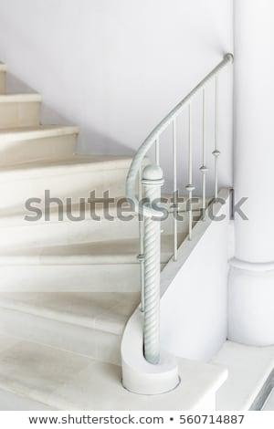 Fehér társalgó minimalista szoba emeleten otthon Stock fotó © vizarch