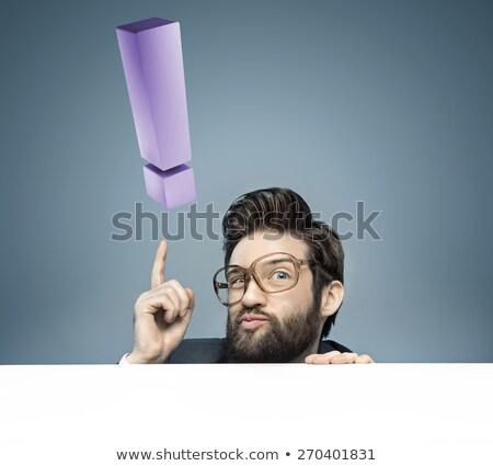 homem · pensativo · empregado · pensando · novo · idéias - foto stock © nicoletaionescu
