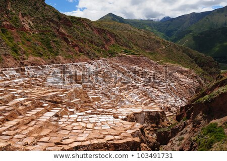 Pre Inca traditional salt mine Stock photo © xura
