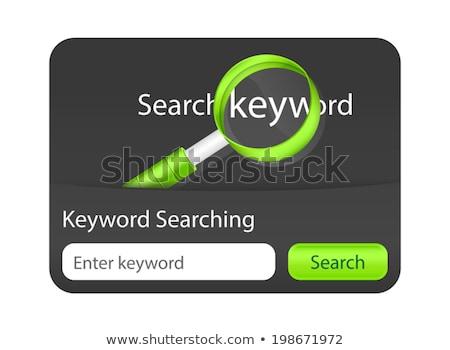 ключевое слово поиск сайт элемент увеличительное стекло черный Сток-фото © liliwhite