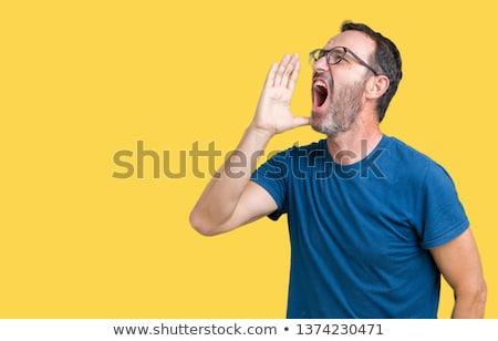 Starszy człowiek frustracja energii stary Zdjęcia stock © bmonteny