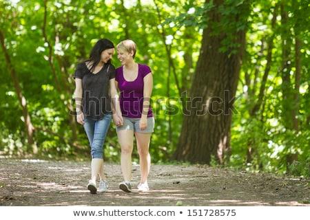Hátsó nézet leszbikus pár sétál együtt ruha Stock fotó © bmonteny