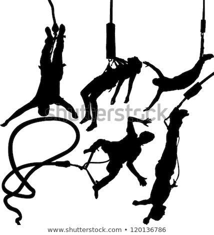 woman leaping on a rope swing stock photo © silkenphotography