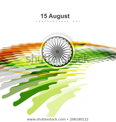 15th of August beautiful indian flag mosaic colorful background  Stock photo © bharat