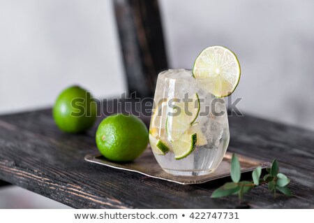 Fresh black soda with ice on wood table stock photo © punsayaporn