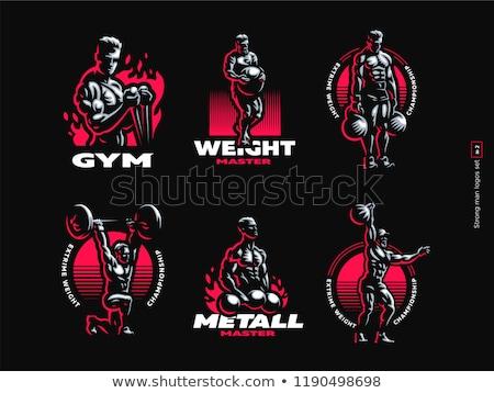 мускулистое тело строителя портрет мышцы фитнес человека Сток-фото © arenacreative