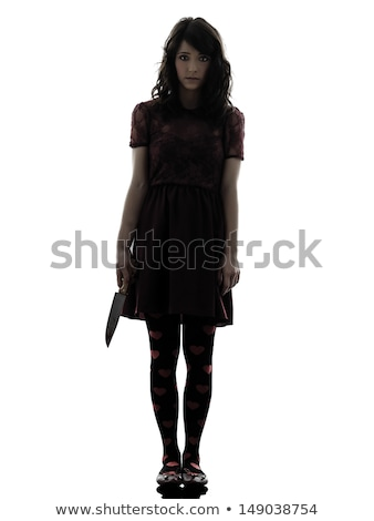 véres · kés · merénylő · fegyver · nő · férfi - stock fotó © spectral