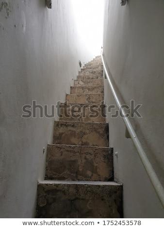 Velho pedra escada escada para cima Foto stock © smuki