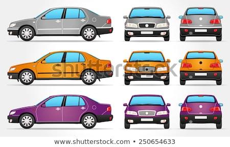 Lado roxo carro sedan estrada Foto stock © leonido