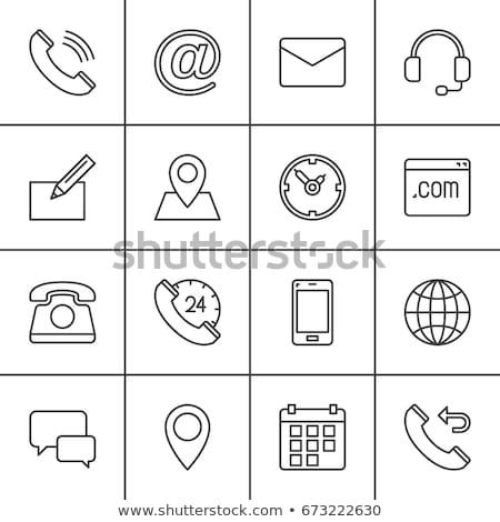 地図 電話 アイコン オフィス デザイン ストックフォト © aliaksandra