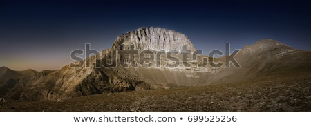 Mountain peaks of Olympus ridge in Greece Stock photo © mahout