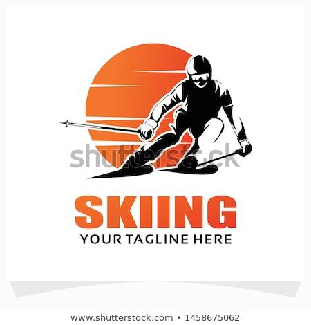 Extremo saltando esquiador salto em altura esportes montanha Foto stock © smuki