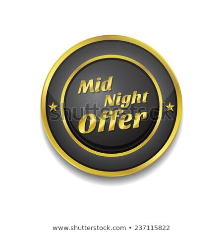 Midnight Offer Gold Vector Icon Button Stock photo © rizwanali3d
