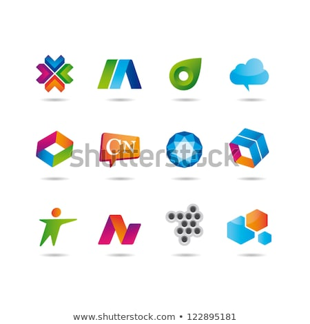vibrante · flor · diseño · de · logotipo · negocios · color · moderna - foto stock © shawlinmohd