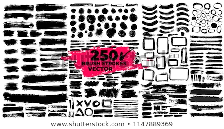 Zwarte cirkel acryl banner mode verf Stockfoto © gladiolus