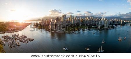Vancouver marina ufuk çizgisi yansımalar deniz mavi Stok fotoğraf © eddygaleotti