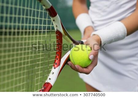 hand and tennis balls Stock photo © ambro