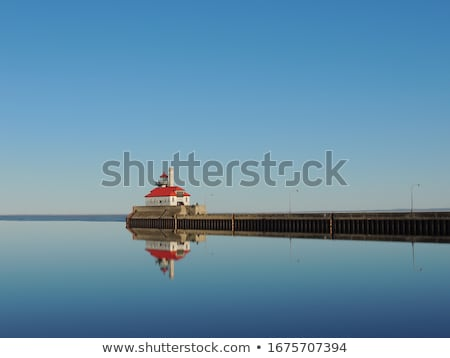 duluth harbor south breakwater outer lighthouse stock photo © benkrut