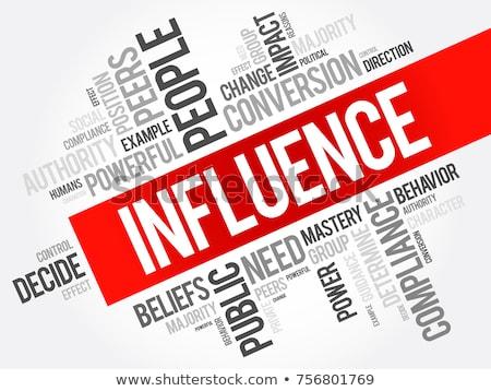 Influencer nuage de mots équipe pouvoir soutien gestion Photo stock © tang90246