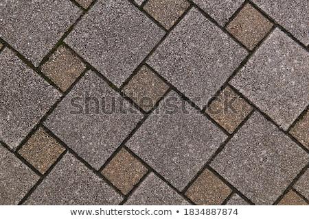 Brown Pavement - Squares of Different Sizes. Stock photo © tashatuvango