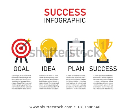 Flat Style Design Concepts for business analytics and winning strategy Stock photo © DavidArts
