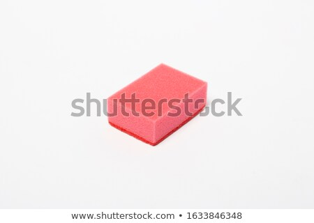 Stack of Colorful Cleaning Sponges on White Backgorund Stock photo © stevanovicigor