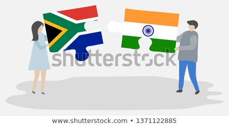 India and South Africa Flags in puzzle  Stock photo © Istanbul2009