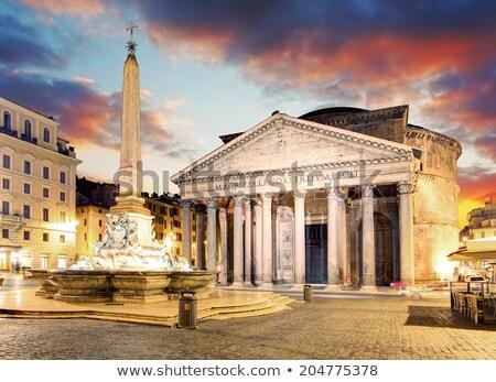 fountain on the piazza della rotonda in rome italy stock photo © vladacanon