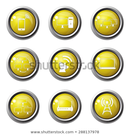 telecom communication yellow vector button icon design set 2 stock photo © rizwanali3d