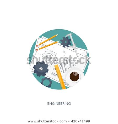 Distancia formación plan artes industrial diseno Foto stock © tashatuvango