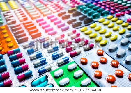 таблетки медицина белый синий коричневый таблетки Сток-фото © Klinker