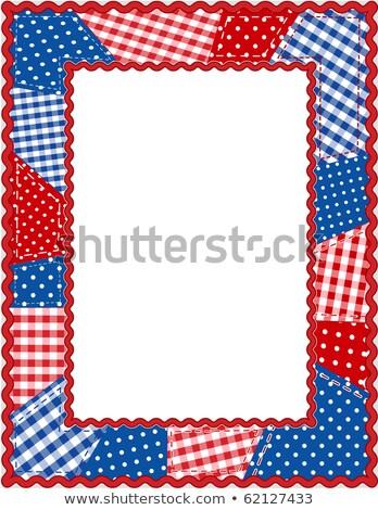 Patriotyczny granicy patchwork ramki obraz ilustracja Zdjęcia stock © Irisangel