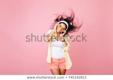 disko · dansçılar · kadın · seksi · saç · güzellik - stok fotoğraf © retrostar