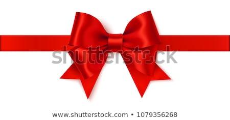 vakantie · realistisch · Rood · satijn · geschenk - stockfoto © m_pavlov