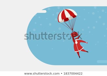 Papai noel balão de ar quente ilustração neve assinar inverno Foto stock © adrenalina