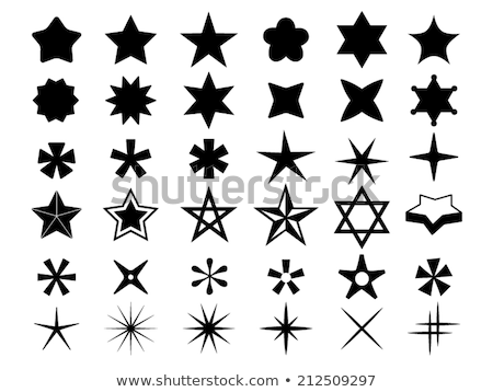 Star vorm insigne vintage stijl Stockfoto © oblachko