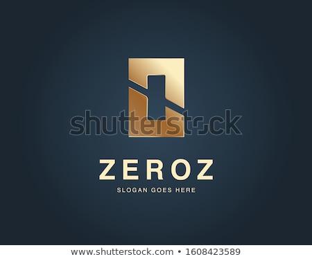 Szám vektor arany webes ikon papír háló Stock fotó © rizwanali3d