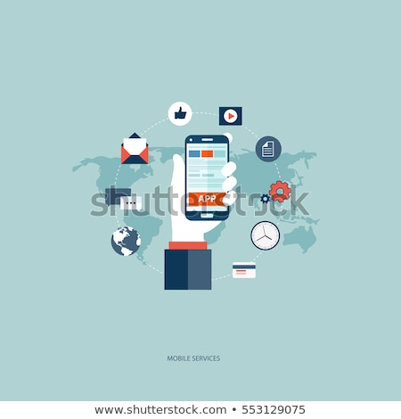 E-Commerce Concept - Web Buttons with Hand Cursor. Stock photo © tashatuvango