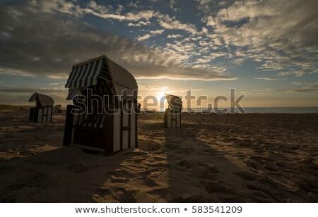 Mand zand kust strand voorjaar Stockfoto © laciatek