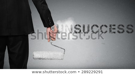 Unsuccessful word painting on wall Stock photo © fuzzbones0