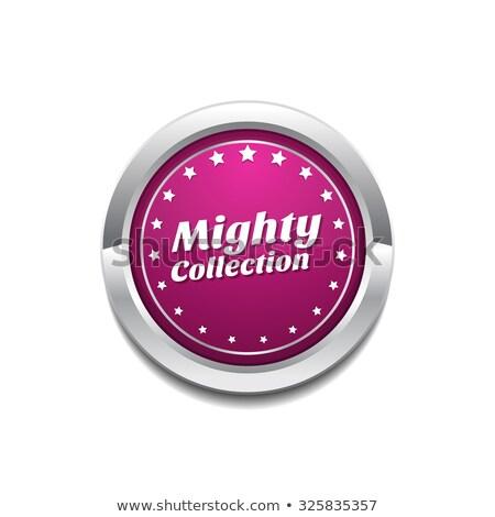 Potężny kolekcja różowy wektora przycisk ikona Zdjęcia stock © rizwanali3d