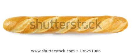 Długo bochenek odizolowany biały żywności tle Zdjęcia stock © GeniusKp